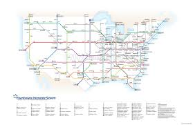 map us interstate system map of the us interstate system in the style of the