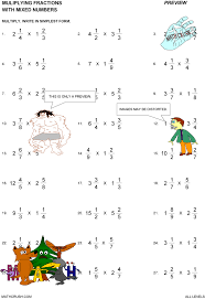 multiply mixed numbers worksheets free worksheets library