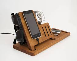 Electronic Charging Station Desk Organizer Charging Station Wooden Desk Organizer Wood Iphone Stand