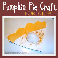 little family fun paper plate pumpkin pie