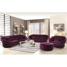 xnron cradle design purple velvet tufted living room collection