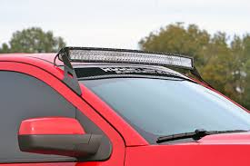 Red Led Light Bars by 54in Curved Led Light Bar Upper Windshield Mounting Brackets For