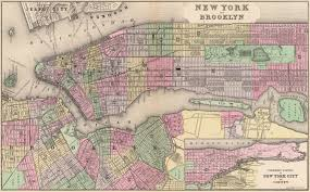 Map Of Manhattan New York City by Mitchell U0027s Map Of Manhattan And Brooklyn 1890