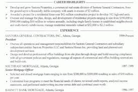 Contractor Resume Sample by Contractor Work Resume Reentrycorps