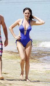kelly brook bikini pics brook amazing sexy blue one piece swimsuit 9
