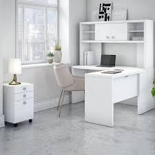 I Shaped Desk Kathy Ireland Office By Bush Echo 4 L Shape Desk Office