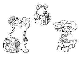 Garfield Halloween Coloring Pages Coloring Pages Garfield