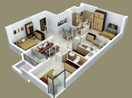 3 bedroom design plan floorplan plano 3d interior design