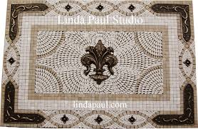 Mosaic Tile For Backsplash by Fleur De Lis Backsplash Tile Mosaic Medallion Mosaics Art Mural