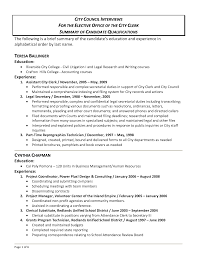 resume skill summary resume for your job application
