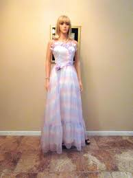 tie dye wedding dress vintage 1970s does 1950s evening gown satin chiffon retro