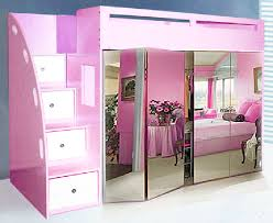 Custom Loft Bed W Built In Wardrobe Mirror Bifold Doors - Harvey norman bunk beds