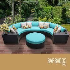 amazon com tk classics 6 piece barbados outdoor wicker patio