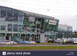 audi showroom glasgow audi car showroom hillington scotland uk stock photo
