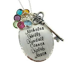 Personalized Sterling Silver Necklace Victorian Key Personalized Sterling Silver Necklace Customize