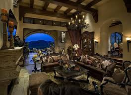 Tuscan Decor Tuscan Decor Family Room Mediterranean With Exposed Beams Bronze