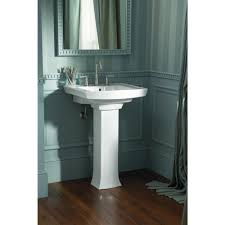 Kohler Faucets Bathroom Sink by Simple Bathroom With Kohler Archer White Pedestal Combo Bathroom