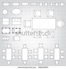 simple floor outline vector simple furniture plan floor stock vector 126721148