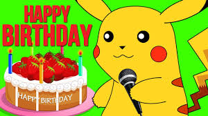 Pokemon Birthday Meme - happy birthday pokemon song nursery rhymes songs for kids
