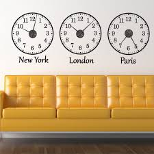 Funky Wall Clocks Wallchimp Wall Clocks Removable Wall Sticker Clocks Alailable