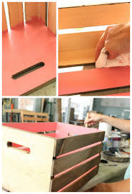 Crate Bookcase Diy Wood Crate Bookcase U2014 The Pleated Poppy