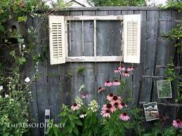 Upcycling Old Windows - 12 ideas for doors and windows in the garden empress of dirt