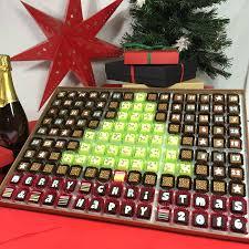 huge chocolate advent calendar to share christmas tree by