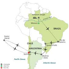 Easter Island Map Cosmos Tours Brazil Argentina U0026 Chile Unveiled With Brazil U0027s