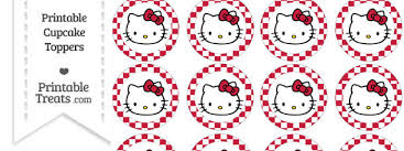 hello cupcake toppers free cardinal checker pattern hello cupcake toppers
