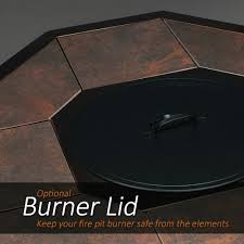 Fire Pit Burners by Agio Haywood Gas Fire Pit Get Warmth Beauty U0026 Class