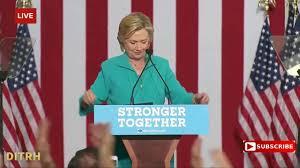 hillary clinton speech 100 proof chroma key green screen youtube