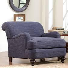 Tweed Armchair Durham Chair Rowley Navy Tweed By Birch Lane Havenly