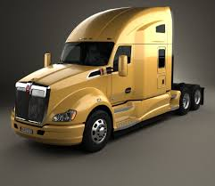 kenworth truck models kenworth t680 tractor truck 3 axle 2012 3d model hum3d