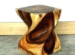 tree trunk end table tree trunk end table elegant wood stump table large size of coffee