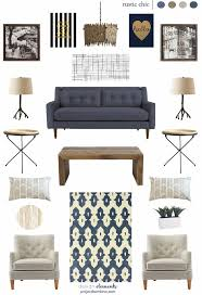 living room style update navy blue sofa earnest home co