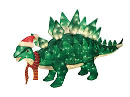 trim a home 60in animated lighted christmas stegosaurus