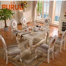 french style dining room solid birch wood dining room furniture set solid birch wood