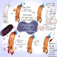hair painting tutorial by dinda choca