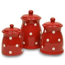 funky kitchen canisters kitchen accessories distinctive decor comred polka dot