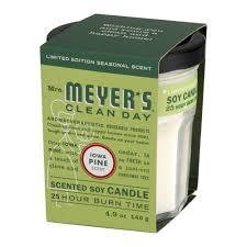 Homesickcandles by Mrs Meyer U0027s Clean Day Glass Candle Iowa Pine 4 9 Oz Walmart Com