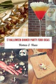 Cocktail Dinner Party - 17 great food ideas for your halloween dinner party homes and hues