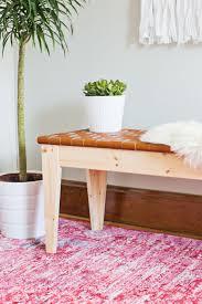 diy ikea bench woven leather bench diy u2013 a beautiful mess