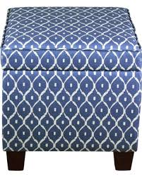 Ikat Storage Ottoman Check Out These Deals On Fairland Square Storage Ottoman Blue