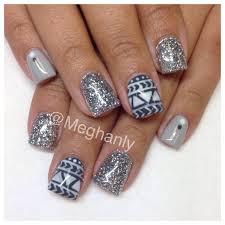 winter nails tribal nail art nails by me pinterest winter