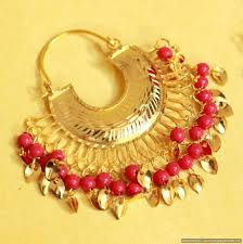 punjabi jhumka earrings buy gold look chaand baali jadau punjabi earrings online