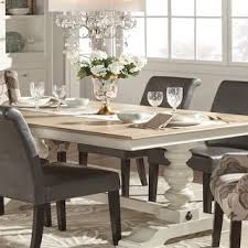 Tips On Buying Kitchen Tables Overstockcom - Tribecca home mckay country antique white pedestal extending dining table