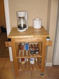 kitchen island instead of table bekvam spice rack mugs coffee cart ikea pinterest coffee carts
