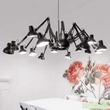 Retractable Ceiling Light Modern Big Spider Led Chandelier Ceiling Light Retractable Pendant