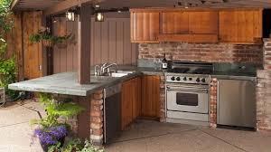 Outdoor Kitchen Stainless Steel Cabinets Teak Outdoor Kitchen Cabinets Dark Brick L Shaped Outdoor Kitchen