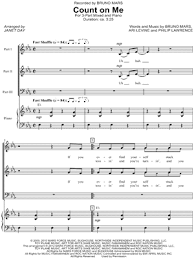 Count On Me Bruno Mars Piano Pdf Bruno Mars Count On Me Arr Janet Day 3 Part Choir Piano